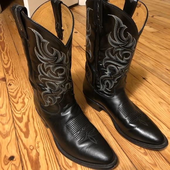 a3052da4c27 Tony Lama Men's Black Cowboy Boots